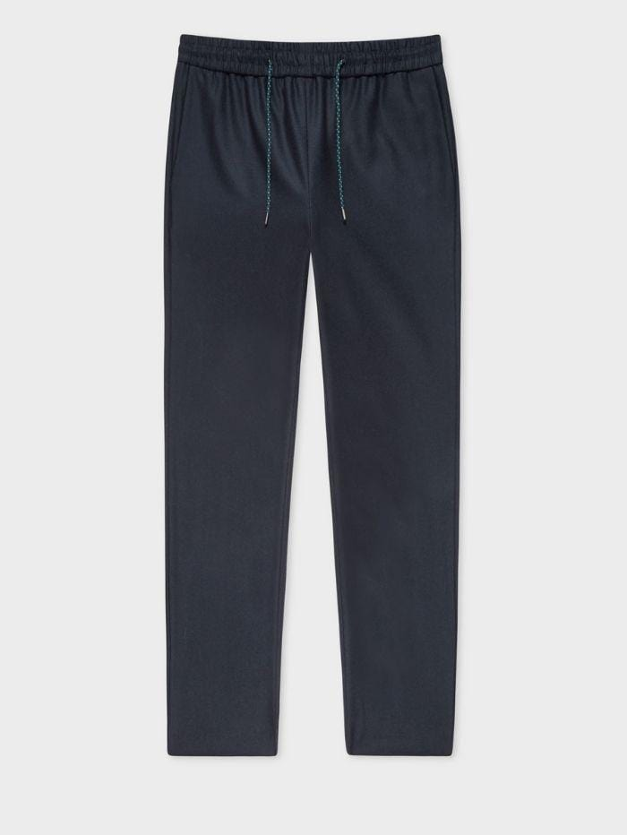 Paul Smith Trousers Paul Smith Navy Wool Drawstring Trousers W2R-133T-E20682 izzi-of-baslow