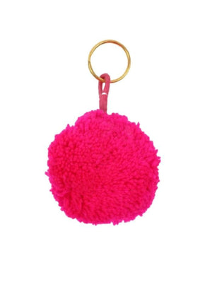 Pom Pom Galore Gifts One Size Pom Pom Galore Neon Pink Pom Pom Key Ring izzi-of-baslow