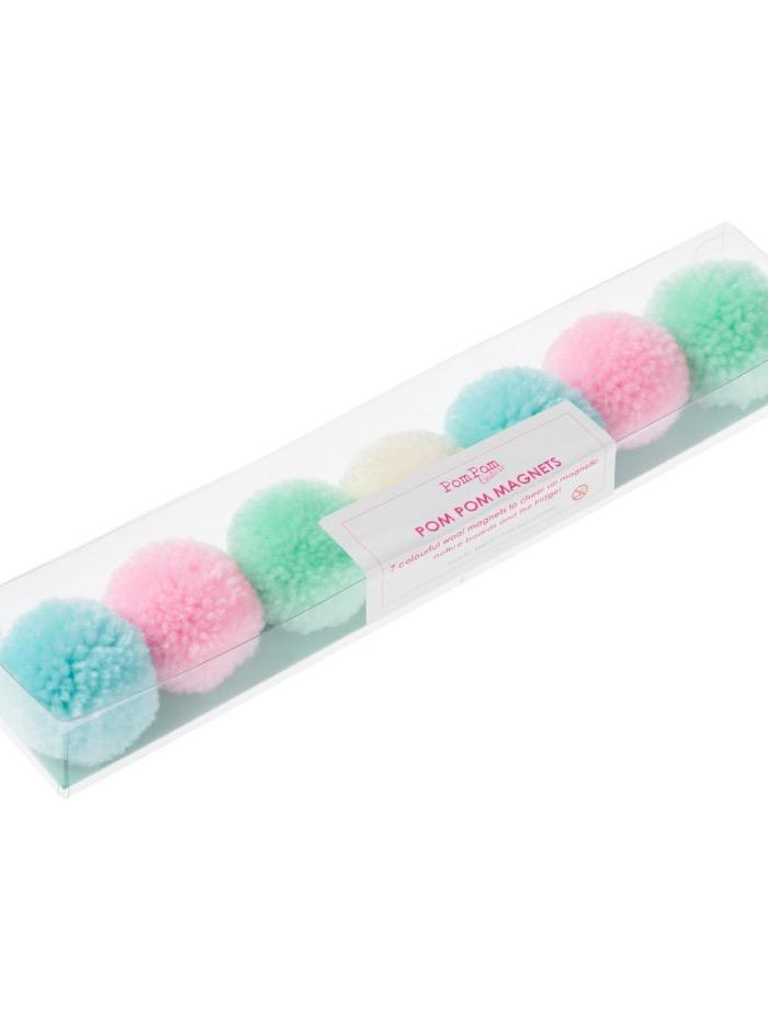 Pom Pom Galore Gifts One Size Pom Pom Galore Pastel Multi Pom Pom Magnets S izzi-of-baslow