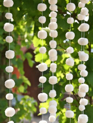 Pom Pom Galore Gifts One Size Pom Pom Galore White Pom Pom Garland izzi-of-baslow