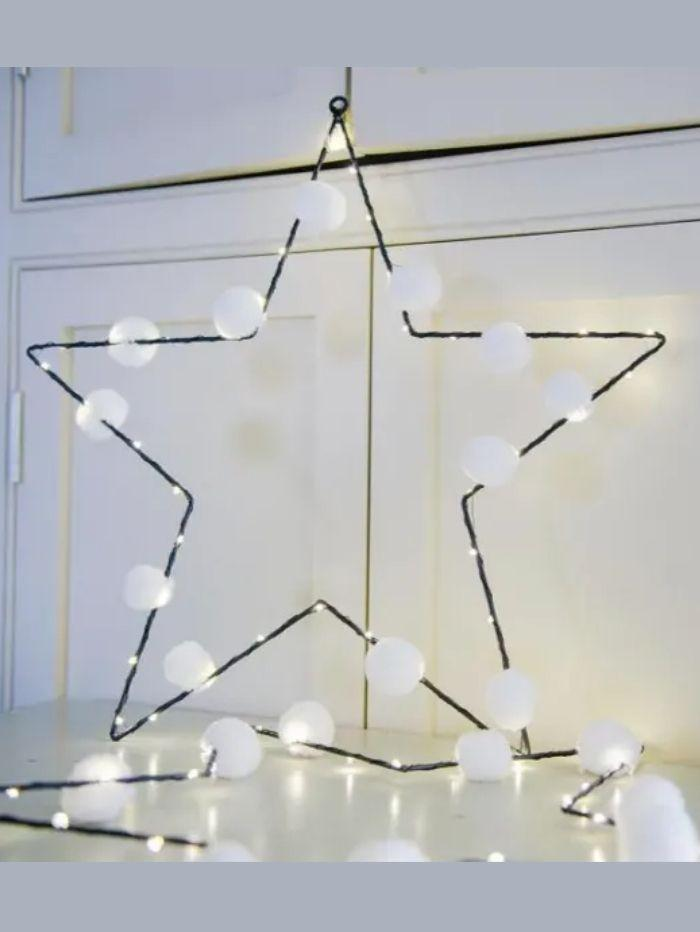 Pom Pom Galore Gifts One Size Pom Pom Galore White Star Fairy Light izzi-of-baslow
