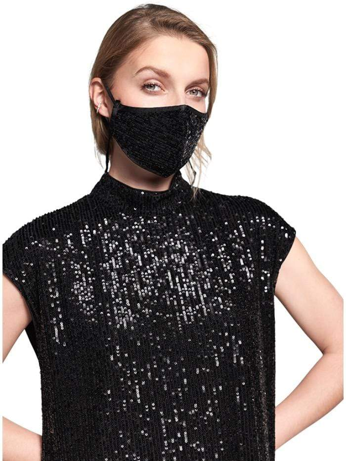 Riani Accessories One Size Riani Black Sequinned Face Mask izzi-of-baslow