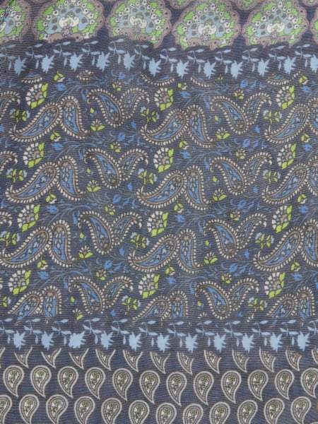 Riani Accessories One Size Riani Indigo Paisley Patterned Scarf 709200-9550 izzi-of-baslow