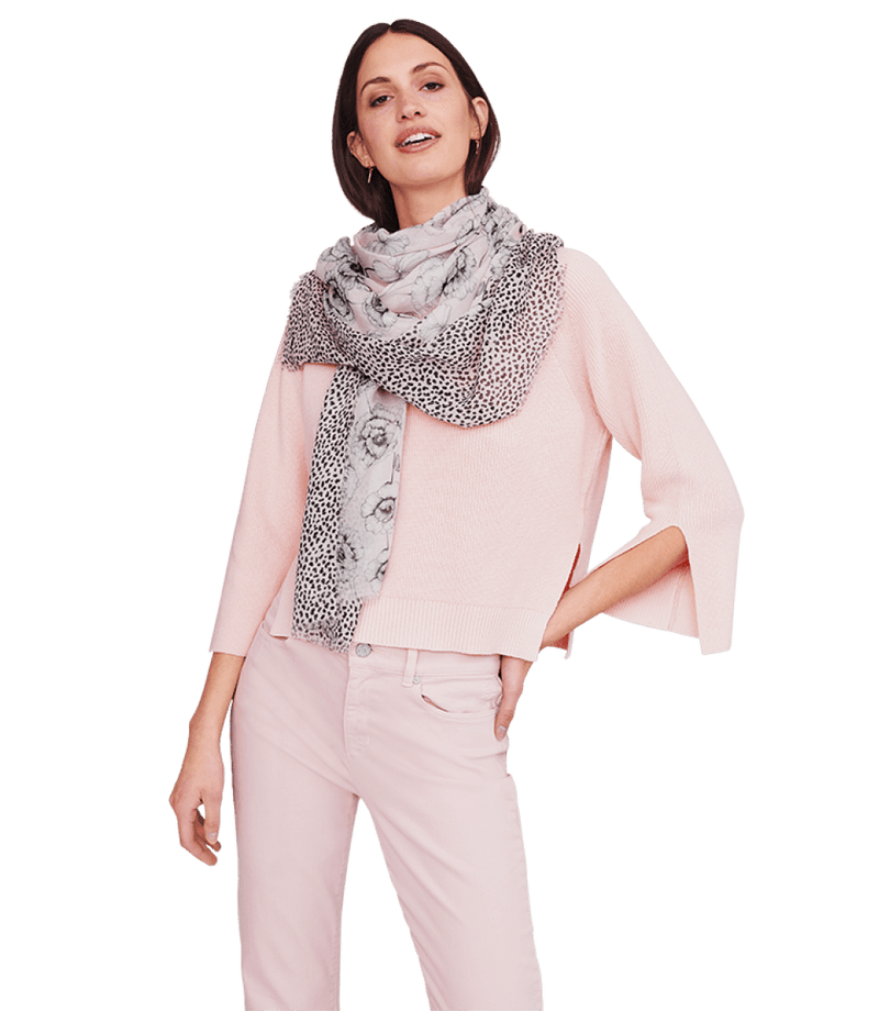 Riani Accessories One Size Riani Powder Pink Patterned Scarf 709190-9550 izzi-of-baslow