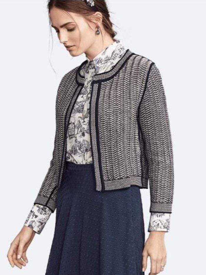 Riani Coats and Jackets Riani Reversible Knitted Jacket In Boucle 307310-7891 494 izzi-of-baslow