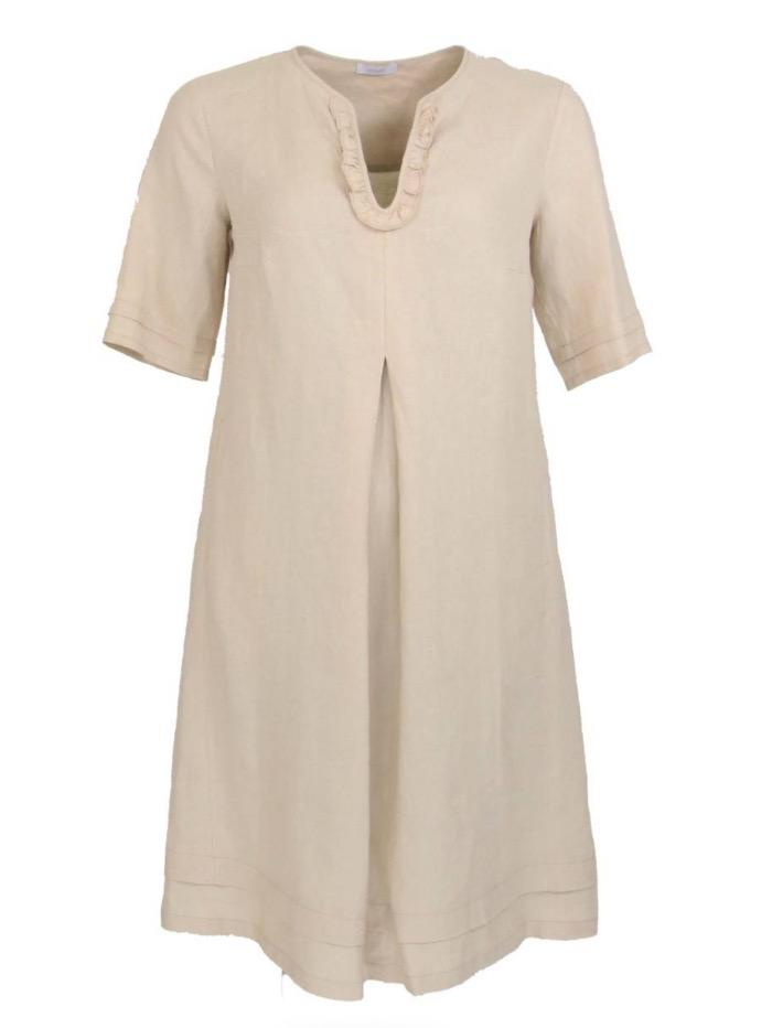 Riani Dresses Dress Beige Hampton Beach Linen 406950-2272 817 izzi-of-baslow