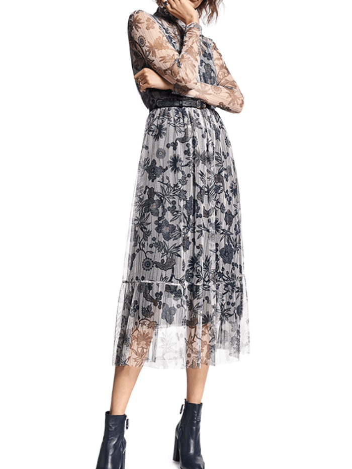 Riani Dresses Riani Floral Maxi Dress 136090-8179 izzi-of-baslow