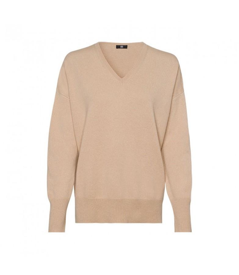 Riani Knitwear Riani Long Sleeved Beige Cashmere Mix Jumper 807535/8000 izzi-of-baslow