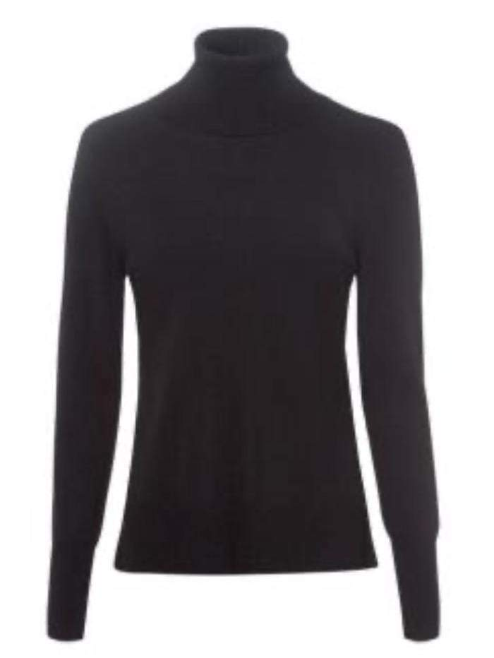 Riani Knitwear Riani Long Sleeved Black Polo Necked Jumper 807620/7673 izzi-of-baslow