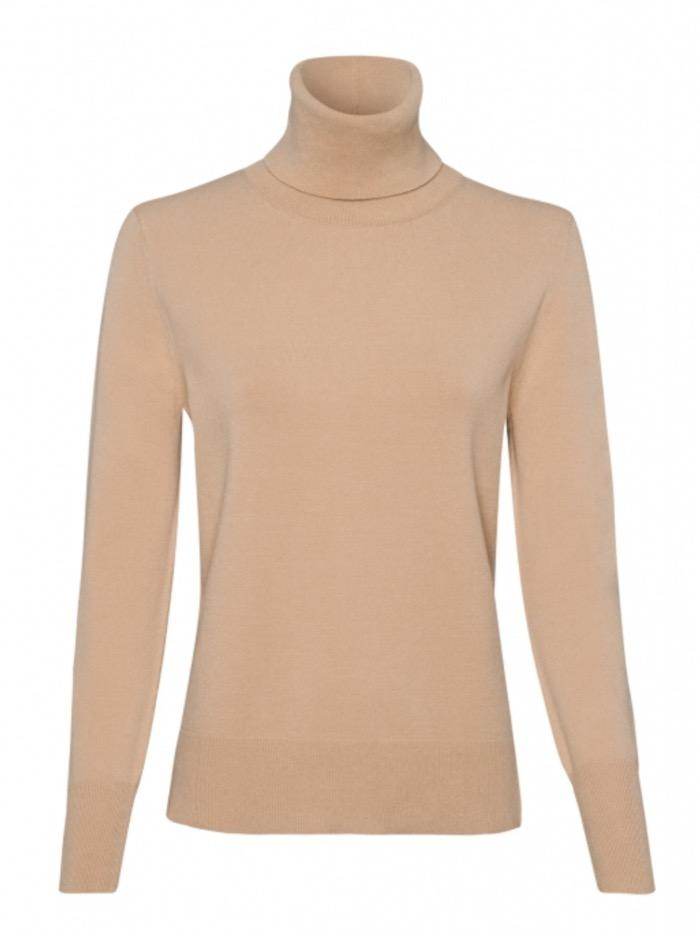 Riani Knitwear Riani Long Sleeved Camel Polo Necked Jumper 807620/7673 izzi-of-baslow