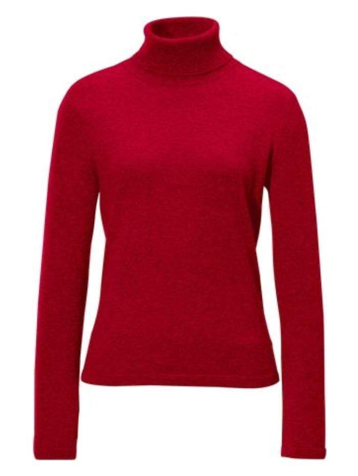 Riani Knitwear Riani Long Sleeved Red Polo Necked Jumper 887850/7673 col 306 izzi-of-baslow