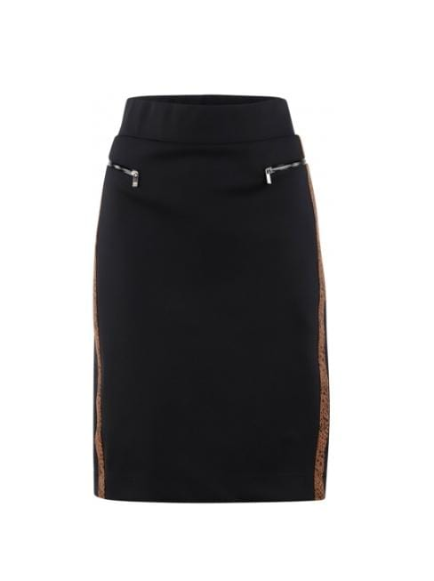 Riani Skirts Riani Black Skirt With Reptile Print Stripe 984650-5329 izzi-of-baslow