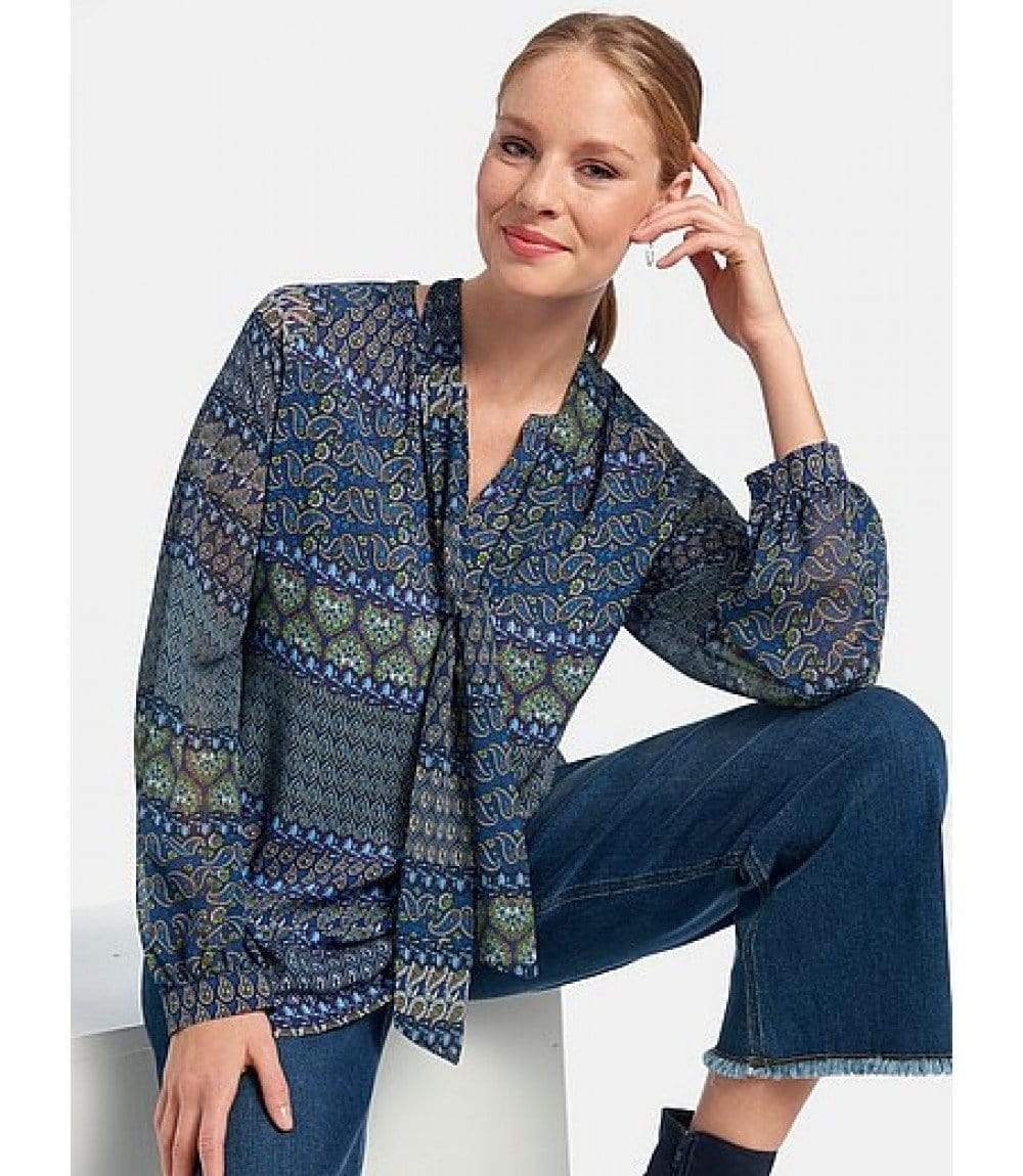 Riani Tops Riani Paisley Printed Blouse 705350-3756 izzi-of-baslow