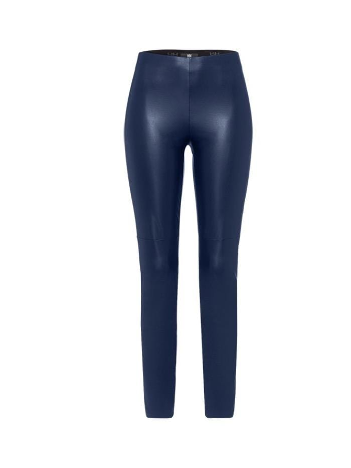 Riani Trousers Riani Navy Vegan Leather Pull On Trouser 393310-5160 421IZ izzi-of-baslow