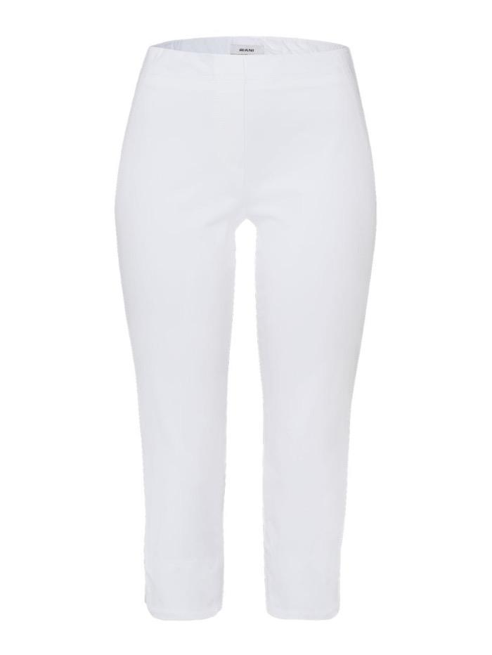 Riani Trousers Riani White Cropped Pull On Trouser 393275 2162 100 izzi-of-baslow
