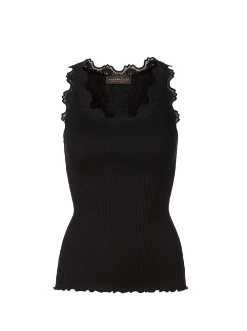Rosemunde Tops Rosemunde Babette Regular Silk Top Black 5405 izzi-of-baslow