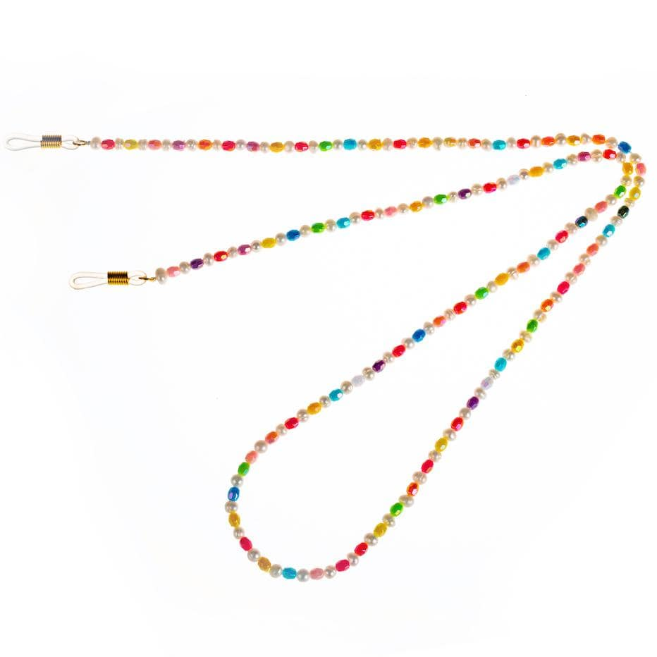Talis Chains Accessories Mini Rainbow Beads Glasses Chain izzi-of-baslow