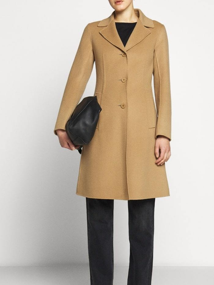 Weekend By Max Mara Coats and Jackets 10 / Camel Weekend by Max Mara Uggioso Virgin Wool Coat in Camel 50160109 izzi-of-baslow