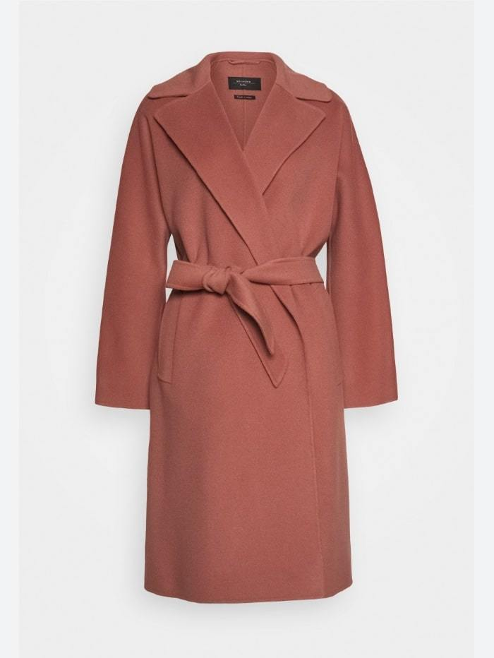 Weekend By Max Mara Coats and Jackets 10 / Pink Weekend by Max Mara Tanga Virgin Wool Coat in Pink 50160609 izzi-of-baslow