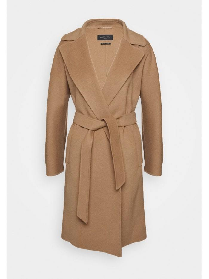 Weekend By Max Mara Coats and Jackets 4 / Camel Weekend by Max Mara Tanga Virgin Wool Coat 50160609 izzi-of-baslow