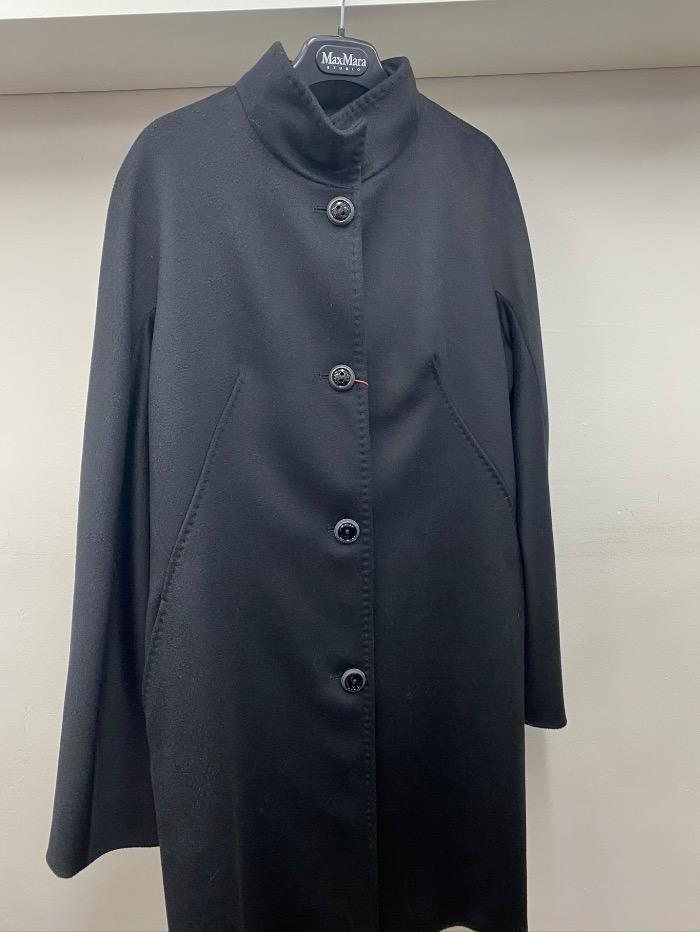 Weekend By Max Mara Coats and Jackets Studio by Max Mara Licia Black Wool Coat 30850839 izzi-of-baslow