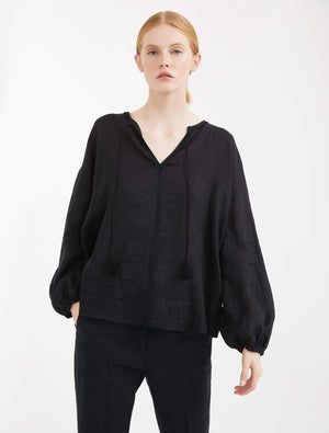Weekend By Max Mara Coats and Jackets Weekend By Max Mara Calotta Black Blouse 59410801 izzi-of-baslow