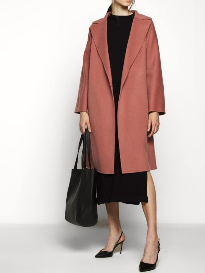 Weekend By Max Mara Coats and Jackets Weekend by Max Mara Tanga Virgin Wool Coat in Pink 50160609 izzi-of-baslow