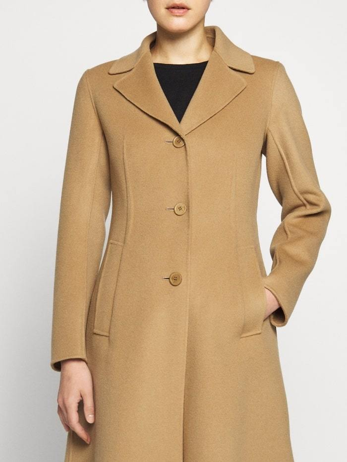 Weekend By Max Mara Coats and Jackets Weekend by Max Mara Uggioso Virgin Wool Coat in Camel 50160109 izzi-of-baslow