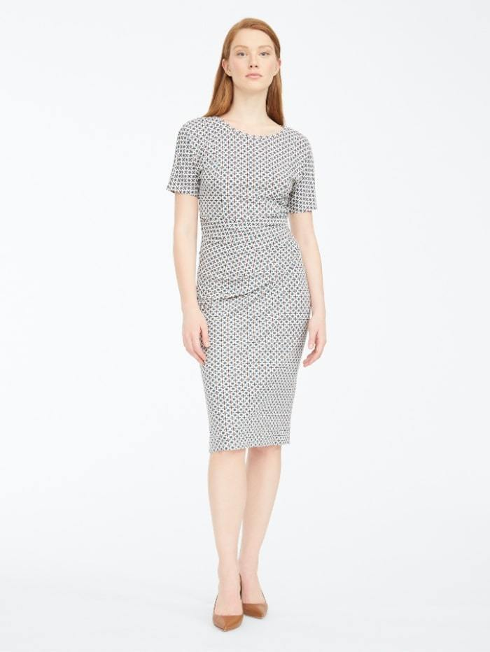 Weekend By Max Mara Dress M / Jade Weekend by Max Mara Flou Geometric Print Jersey Dress 56260309 izzi-of-baslow