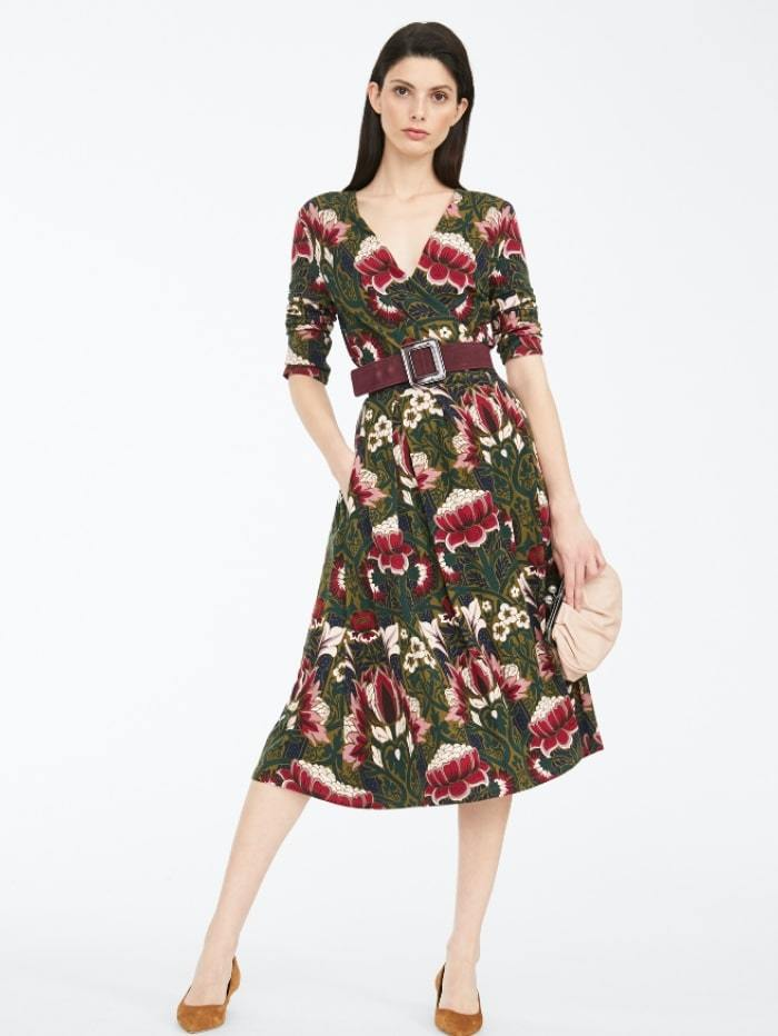 Weekend By Max Mara Dress M / plum Weekend by Max Mara Floral Print Jersey Dress 56260209 izzi-of-baslow