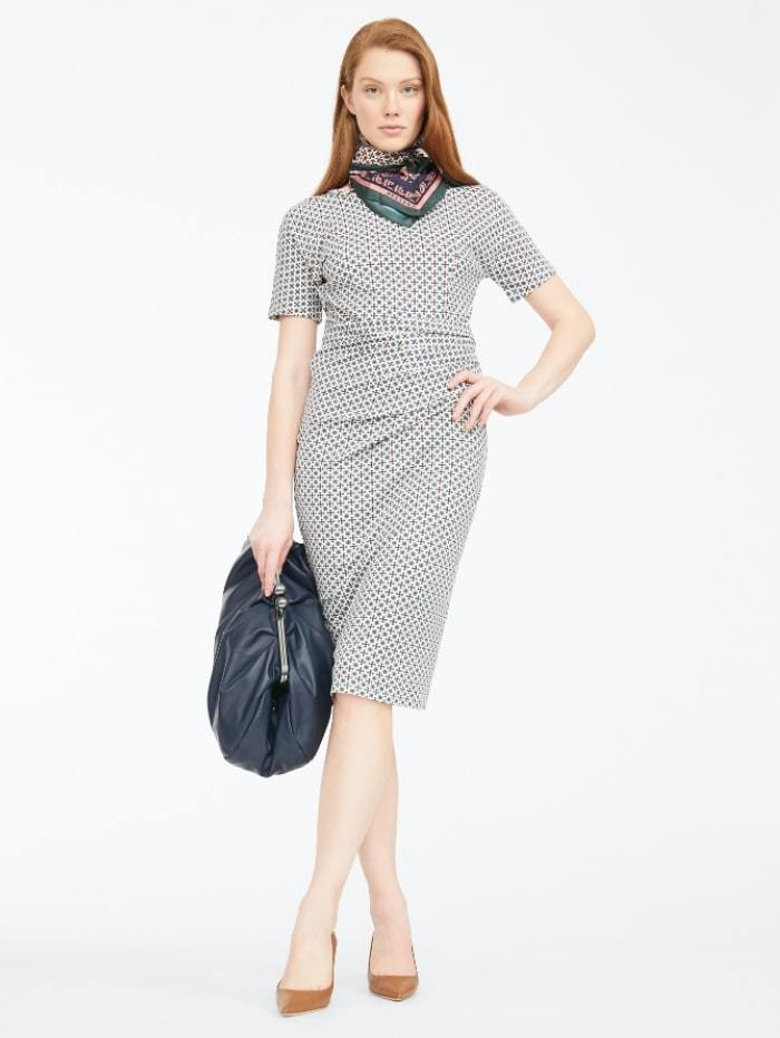Weekend By Max Mara Dress Weekend by Max Mara Flou Geometric Print Jersey Dress 56260309 izzi-of-baslow
