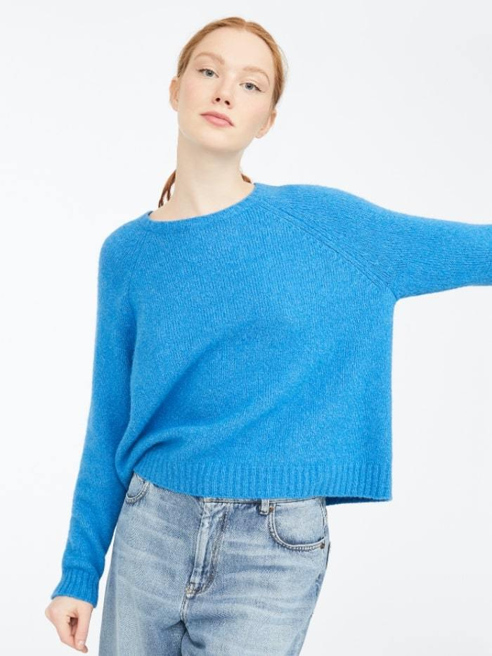 Weekend By Max Mara Knitwear M / cornflower Weekend by Max Mara Amici Jumper in Alpaca Wool-Blend 53662109 izzi-of-baslow