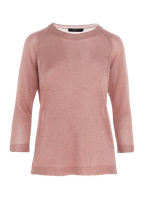 Weekend By Max Mara Knitwear S / Antique rose Weekend by Max Mara Milva Lurex Top 53661209 izzi-of-baslow