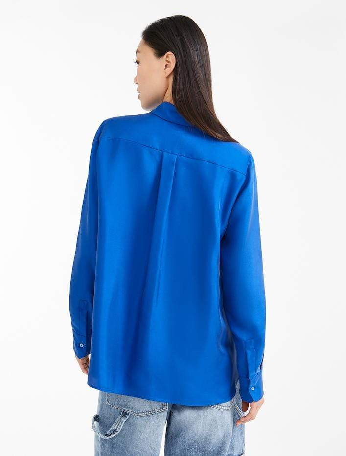 Weekend By Max Mara Knitwear Weekend by Max Mara Royal Blue Vadier Shirt 51160103 izzi-of-baslow