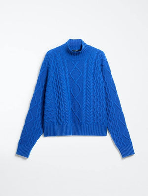 Weekend By Max Mara Knitwear Weekend by Max Mara Saggio Pure Wool Cable Jumper 53662103 izzi-of-baslow