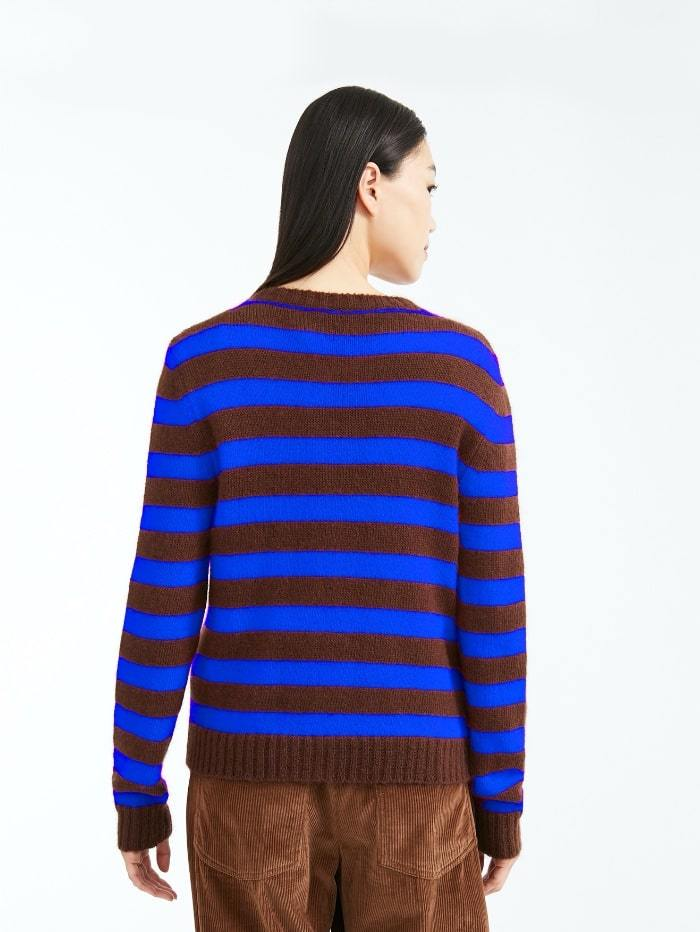 Weekend By Max Mara Knitwear Weekend by Max Mara Sagra Striped Mohair Blend Jumper 536629030 izzi-of-baslow