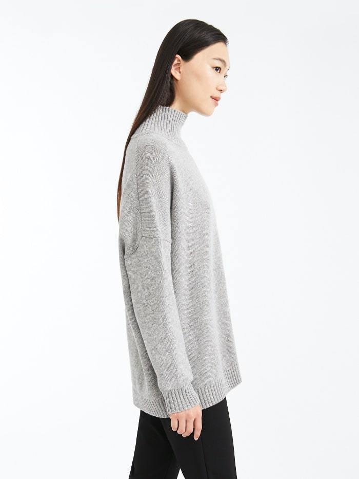 Weekend By Max Mara Knitwear Weekend by Max Mara Tondo Jumper in Grey Virgin Wool 53660603 izzi-of-baslow