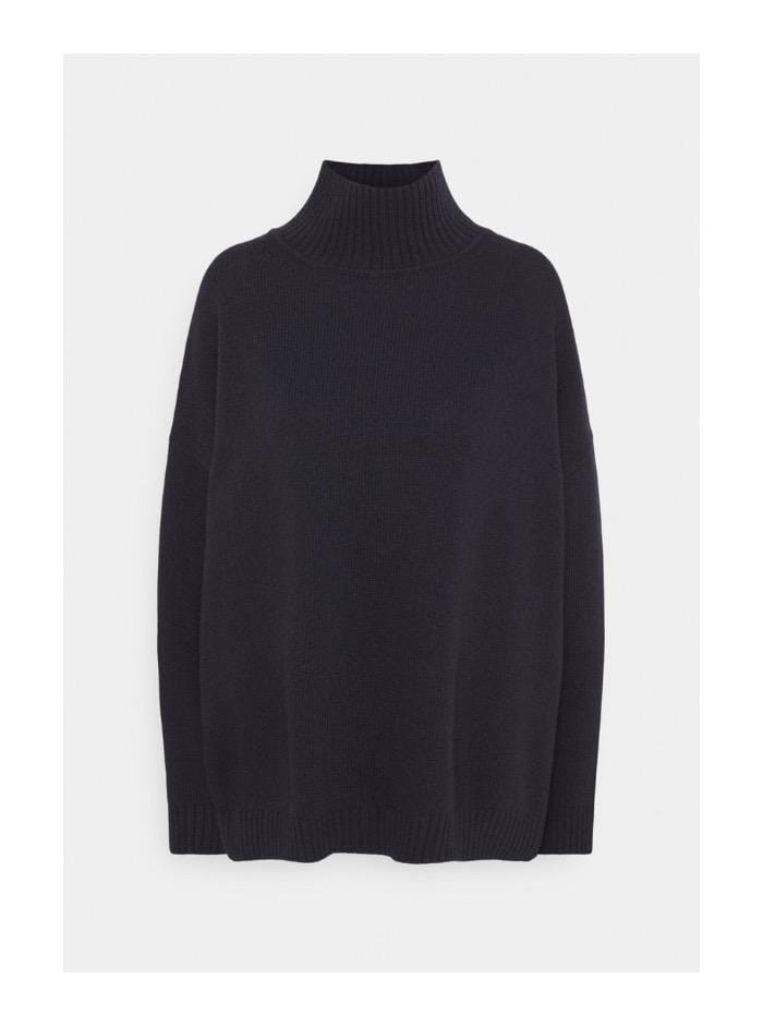 Weekend By Max Mara Knitwear Weekend by Max Mara Tondo Jumper in Navy Virgin Wool 53660603 izzi-of-baslow