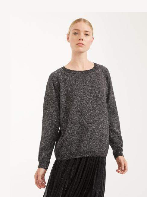 Weekend By Max Mara Knitwear Weekend By Max Mara Wool Dark Grey Metallic Jumper Garonna 53611507 izzi-of-baslow