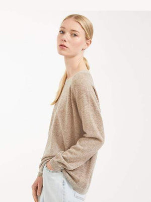 Weekend By Max Mara Knitwear Weekend By Max Mara Wool Gold Metallic Jumper Garonna 53611507 izzi-of-baslow