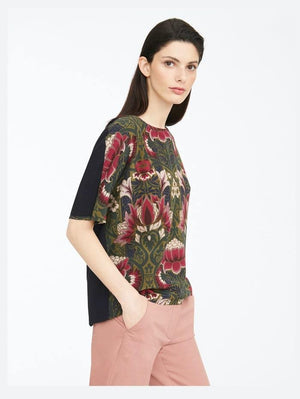 Weekend By Max Mara Tops Weekend by Max Mara Soledad Floral-print Silk and Jersey Top 59461109 izzi-of-baslow