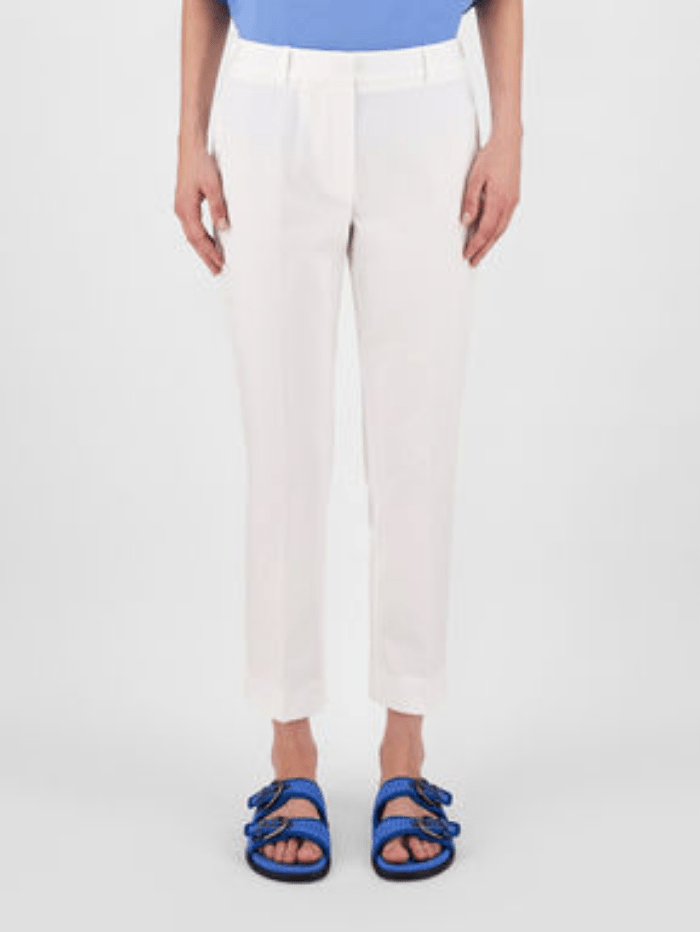 Weekend By Max Mara Trousers 8 Weekend Max Mara FARAONE White Cotton Trousers 51310611 001 izzi-of-baslow