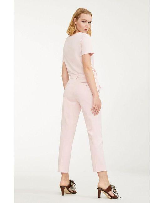 Weekend By Max Mara Trousers Weekend By Max Mara Acacia Pale Pink Trousers 51310891 izzi-of-baslow