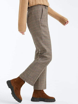 Weekend By Max Mara Trousers Weekend by Max Mara Aggetto Prince of Wales Wool Cropped Trousers 51360403 izzi-of-baslow