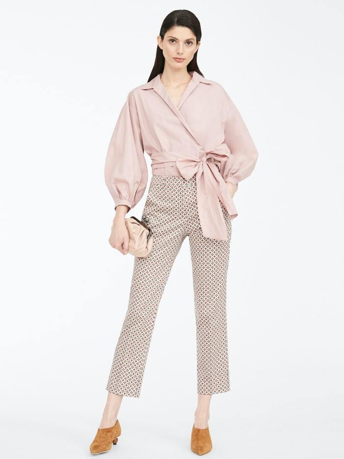 Weekend By Max Mara Trousers Weekend by Max Mara Astrale Graphic Print Cotton Trousers 51360609 izzi-of-baslow
