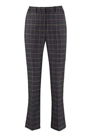 Weekend By Max Mara Trousers Weekend By Max Mara Grey Checked Pantera Trousers 51360393 izzi-of-baslow