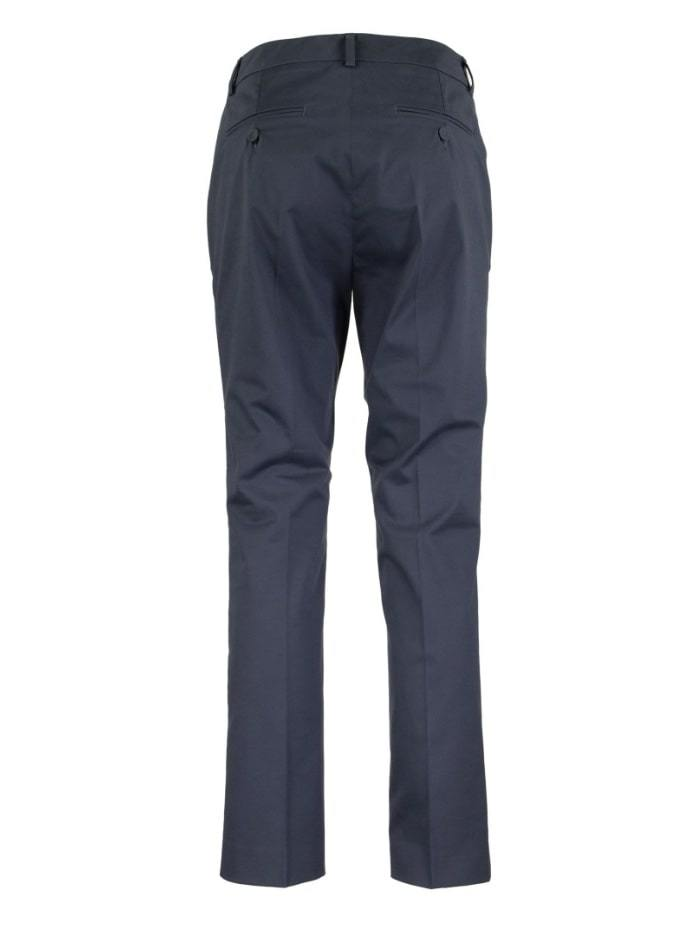 Weekend By Max Mara Trousers Weekend by Max Mara Lato Cotton Satin Cropped Blue Trousers 51360309 izzi-of-baslow