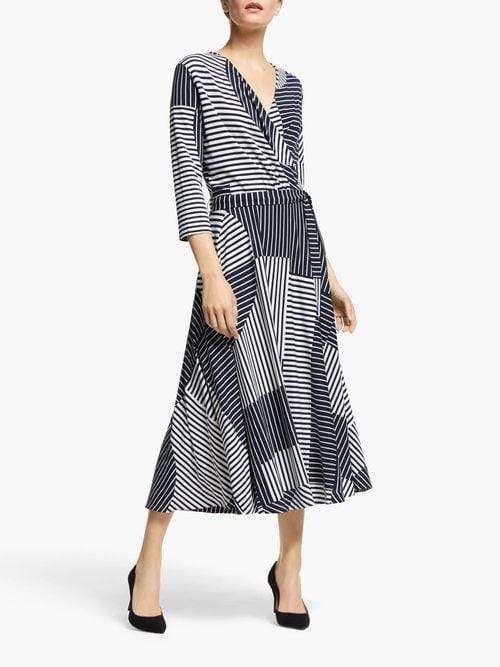Weekend By Max Mara Trousers Weekend By Max Mara Navy and White Acqua Dress 52211601 izzi-of-baslow