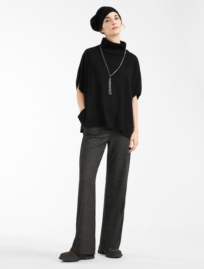 Weekend By Max Mara Trousers Weekend by Max Mara Pancone Trouser in Dark Grey Tweed 57860203 izzi-of-baslow