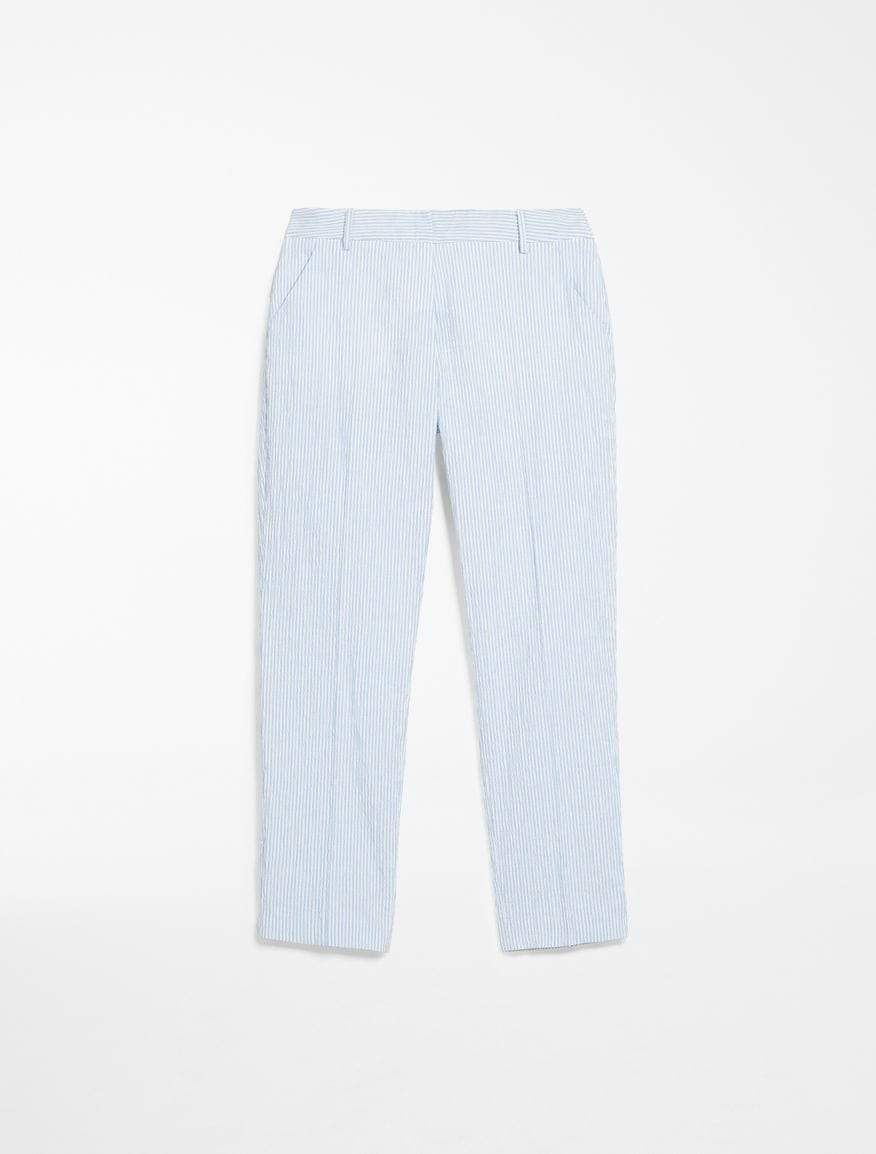 Weekend By Max Mara Trousers Weekend By Max Mara Seersucker Stripe Trousers Aral 51310301 izzi-of-baslow